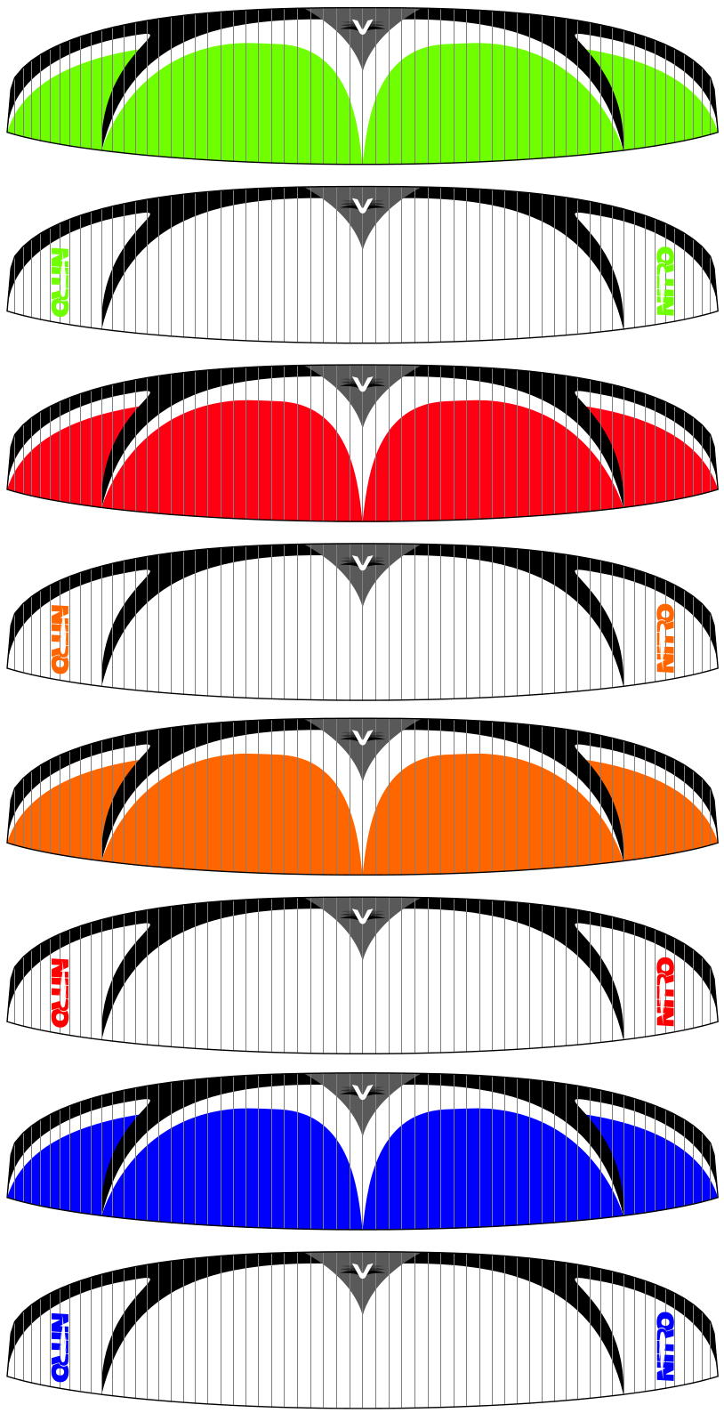 Utah Powered Paragliding Velocity Nitro Paraglider Colors